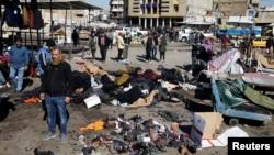 2021年1月21日伊拉克巴格達中央市場發生兩次自殺式炸彈襲擊。
