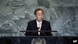9月21号联合国秘书长潘基文在66届联大上讲话