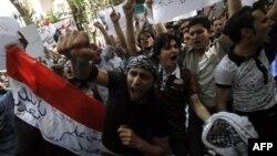 Демонстрация протеста у сирийского посольства в Каире против насилия и произвола в Сирии