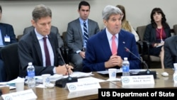 U.S. Secretary of State John Kerry and Assistant Secretary Tom Malinowski attend the 19th US-China Human Rights Dialogue.