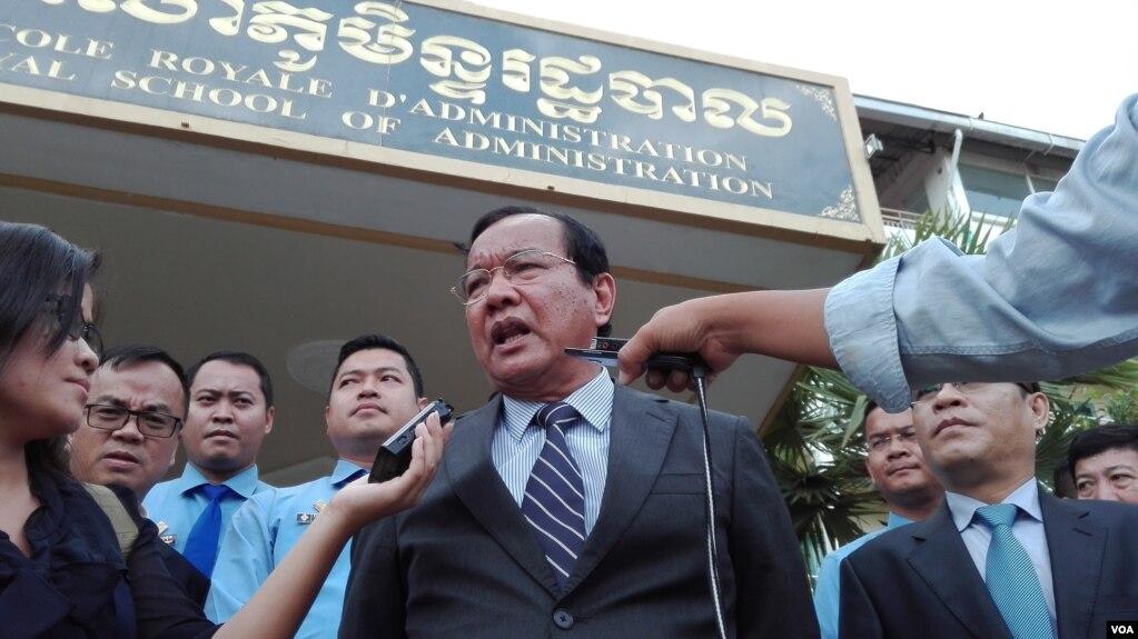 Bộ trưởng Ngoại giao Campuchia Prak Sokhonn tuyên bố nhận những người bị Mỹ trục xuất. (ảnh ngày 14/9/2017)