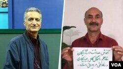 رسول بداقی و محمدتقی فلاحی، از اعضای کانون صنفی معلمان