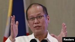 Tổng thống Philippines President Benigno Aquino phát biểu tại Manila, ngày 27/10/2015.