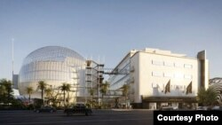 An artist's rendering shows the new Academy Museum of Motion Pictures, due to be completed in 2019. (Renzo Piano Building Workshop/A.M.P.A.S. Images from L'Autre Image)
