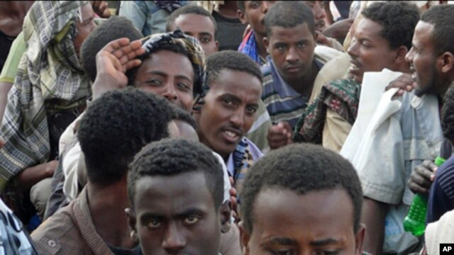 Ethiopian irregular migrants stranded in the border town of Haradh