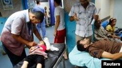 在加沙的医院里