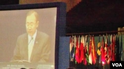 Sekretaris Jenderal PBB, Ban Ki-moon hadir sebagai pembicara kunci dalam Jakarta International Defense Dialog, Rabu (21/3).