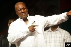 ປະທານາທິບໍດີ ປະເທດການາ ຄົນປັດຈຸບັນ ທ່ານ John Dramani Mahama.