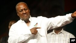 John Dramani Mahama of the National Democratic Congress.
