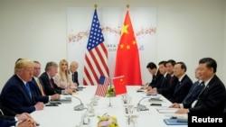 美国总统特朗普和中国国家主席习近平2019年6月29日在日本出席20国集团峰会时举行会晤。