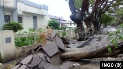 Cyclone Idai also left a trail of destruction in Beira, Mozambique...