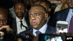 Jean-Pierre Bemba (C) mokambi ya MLC, na Kinshasa, le 2 août 2018.