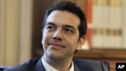 希臘左翼政黨聯盟領袖齊普拉斯(資料圖片)
