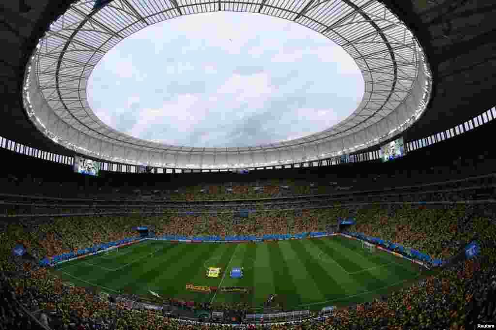 برازیل فٹ بال ورلڈکپ کی تیسری پوزیشن کے مقابلے میں نیدرلینڈ اور برازیل مدمقابل ہوئے