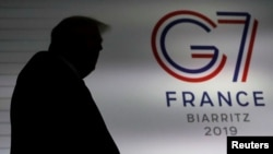 Tổng thống Donald Trump tại hội nghị G7 ở Pháp năm 2019.