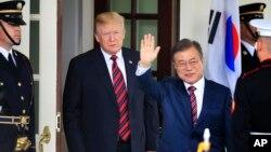 Hai tổng thống Mỹ, Hàn gặp nhau tại Tòa Bạch Ốc hôm 22/5