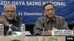 Ketua Umum Kamar Dagang dan Industri (Kadin) Indonesia, Suryo Bambang Sulisto (kiri) (Foto: dok).