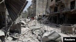 Razrušeni sirijski grad Alepo