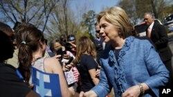 民主党总统候选人前国务卿希拉里克林顿