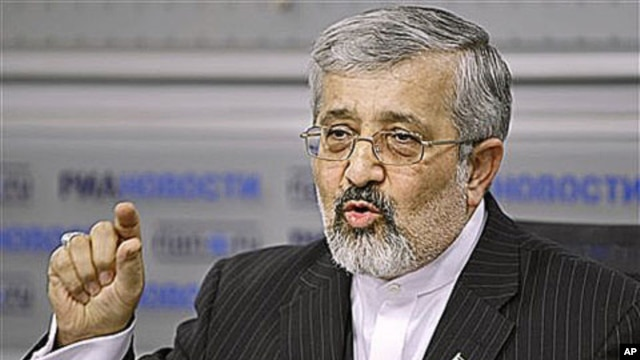 Iran's ambassador to the UN's International Atomic Energy Agency, Ali Asghar Soltanieh, speaks at a news conference in Moscow, Russia, saying the Istanbul talks are a 'window for an honorable path for the West to get out of the present impasse,' 20 Jan, 2