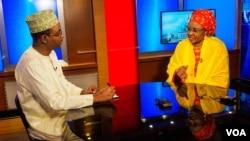 Uwargidan Shugaba Muhari Na Najeriya, Aisha Muhammadu Buhari tare Da Ibrahim Ahmed Na Nan Muryar Amurka, August 5, 2016