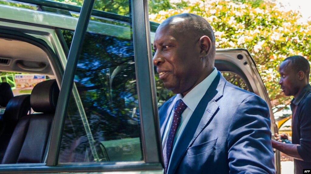 Samuel Undenge, ex-ministre zimbabwéen de l'énergie et de l'énergie de Robert Mugabe condamné à deux ans et demi de prison pour abus de pouvoir et de corruption, à Harare, sur une photo du 6 janvier 2018.