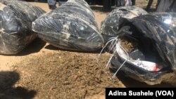 Droga apreendida pela polícia em Nampula