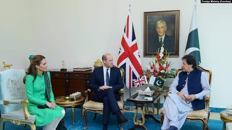 Meetings of the British royal couple with the PM Khan