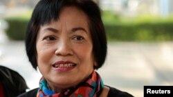Bà Anchan Preelert đến toà án ở Bangkok, Thái Lan, vào ngày 19/1/2021.