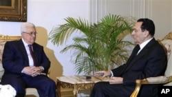 مصری صدرحسنی مبارک اور فلسطینی اتھارٹی کے صدر محمود عباس