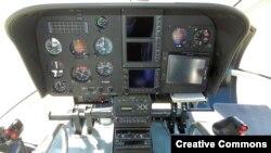 Buồng lái của một chiếc trực thăng EC130. (Ảnh tư liệu)
