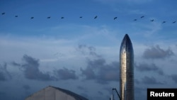 Прототип ракети Starship в Бока-Чіка, штат Техас