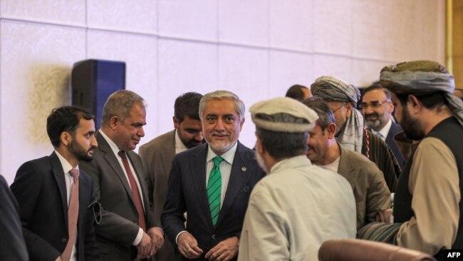 افغان وفد کی قیادت مصالحتی کونسل کے سربراہ عبداللہ عبداللہ نے کی تھی۔