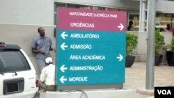 Entrada da Maternidade Lucrécia Paim, em Luanda