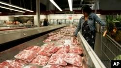 美國市場上的豬肉。