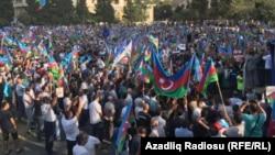 Azerbaijani opposition gathering in Baku, Sept. 23, 2017.