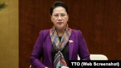 Chủ tịch QH Nguyễn Thị Kim Ngân trong phiên họp ngày 11/6/2018.