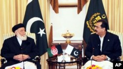 پاکستانی وزیراعظم گیلانی سے پروفیسر ربانی کی ملاقات