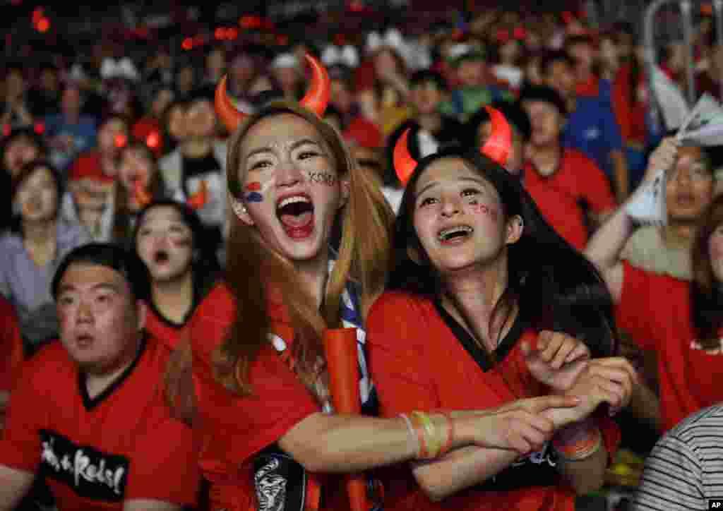 Dünya Kupası'nda Güney Kore ile Almanya karşılaşmasından bir kare...