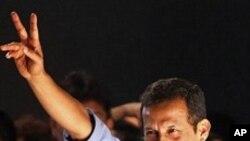 새로운 페루 대통령으로 당선된 우말라 후보