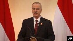 PM Palestina Rami Hamdallah memberikan sambutan dalam pembukaan pertemuan ke-2 konferensi Kerjasama Negara-negara Asia Timur untuk Palestina (CEAPAD) di Jakarta (1/3).