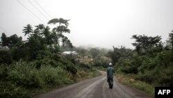 Vue de Mampong, dans la région orientale où sont situées les fermes de cacao Tetteh Quarshie et Jubilee le 14 juin 2019.