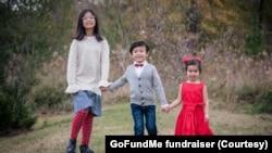 Olivia 11 tuổi, Edison 8 tuổi và Colette 5 tuổi cùng bà ngoại thiệt mạng trong một vụ cháy nhà ở Sugar Land, bang Texas, ngày 16 tháng 2, 2021.