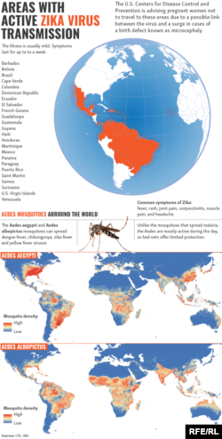 Infographic: Areas With Active Zika Virus Transmission