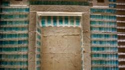 بخشی از دیوار مقبره فرعون «جوزر» پس از مرمت - ۲۳ شهریور ۱۴۰۰