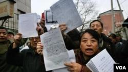 中國訪民在北京上訪,不少外地訪民被攔截和遣返,有些人被關押