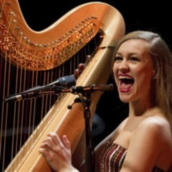 Joanna Newsom at her concert at the Belem Cultural Center in Lisbon, Portugal earlier this year