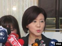 台湾在野党国民党立委王育敏(美国之音张永泰拍摄)