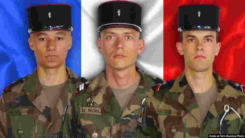 Trois soldats français morts après leur véhicule blindé a sauté sur une mine au Mali, le 13 Avril, 2016.