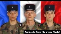 Mickaël Poo-Sing, Damien Noblet et Michael Chauvin sont décédés en opération au Mali.